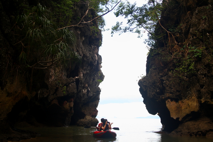 Sea canoeing in Phang Nga Bay, Thailand