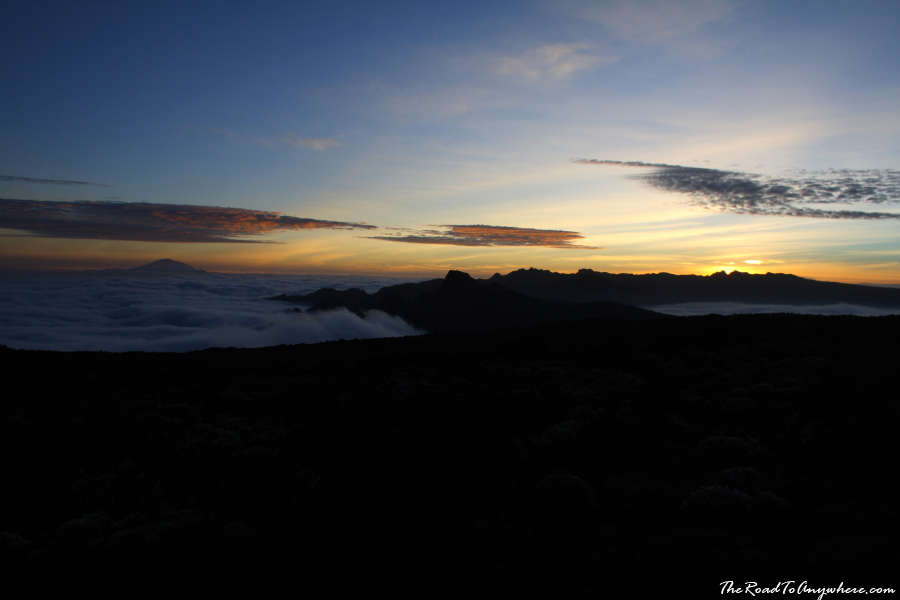 Sunset from Shira Plateau on Mount Kilimanjaro, Tanzania