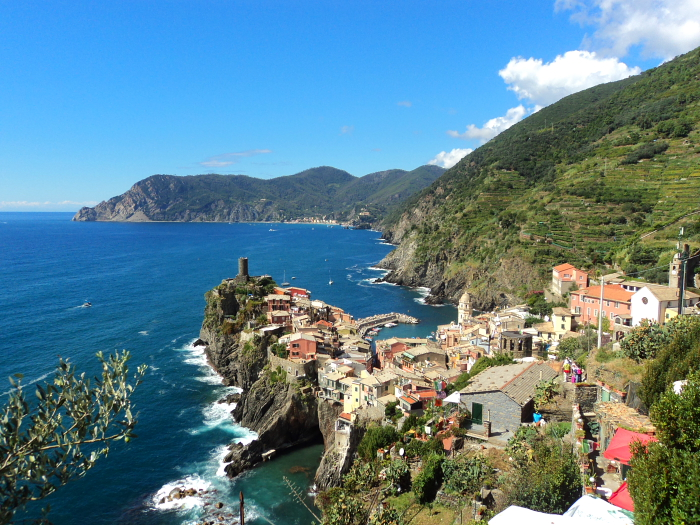 View of Vernazza on Cinque Terre, Italy