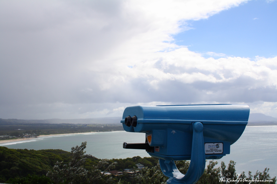 Binoculars at the Cape Byron Lighthouse in Byron Bay, Australia