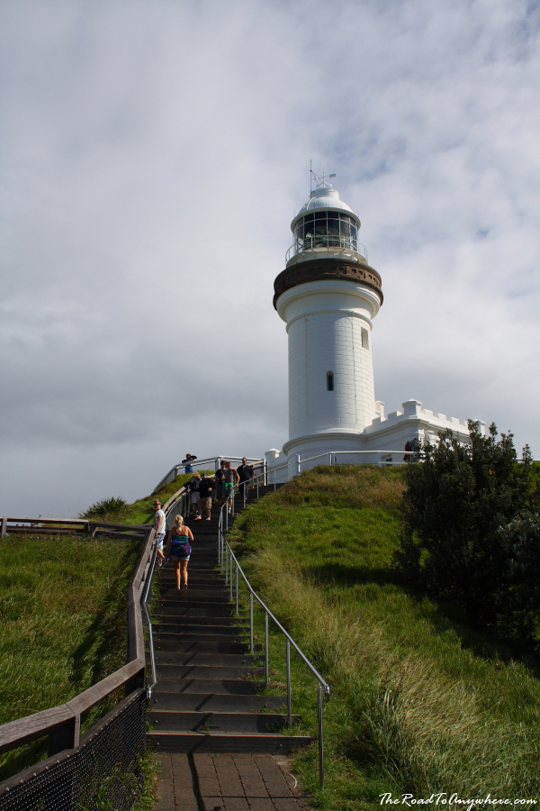 Steps leading to the lighthouse in Byron Bay, Australia