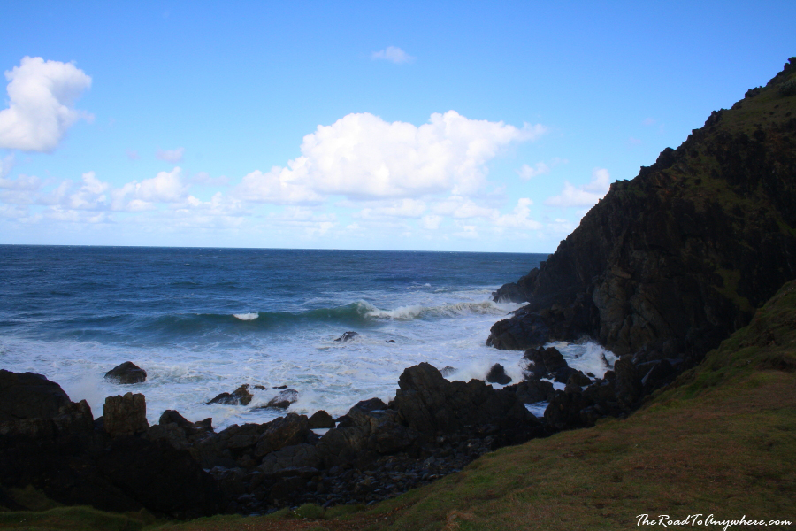 The rocky coastline at Cape Byron in Byron Bay, Australia