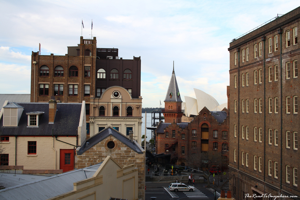 Historic buildings at The Rocks in Sydney, Australia