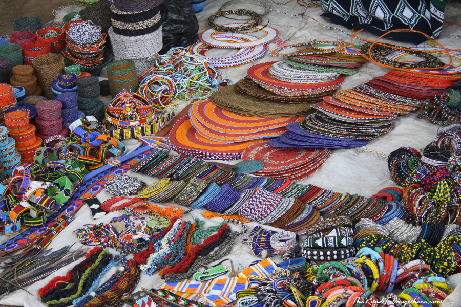 local arts and crafts at the curio market in arusha tanzania