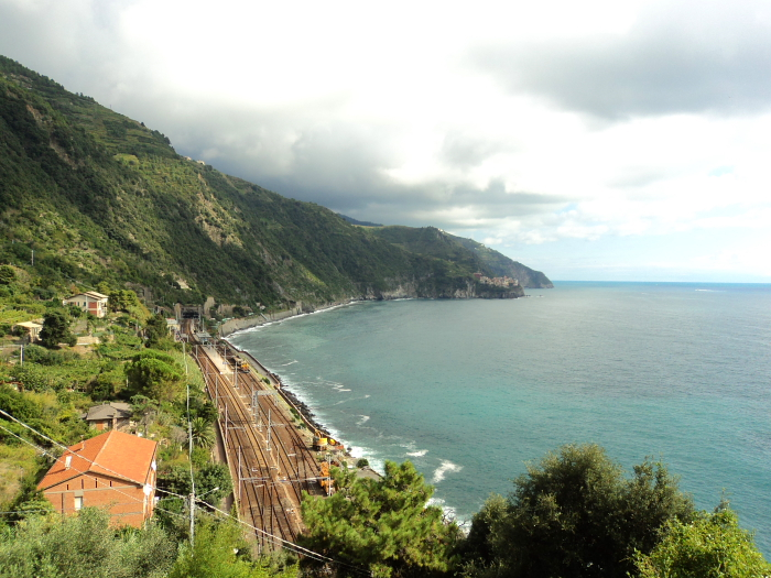 Corniglia train station in Cinque Terre, Italy