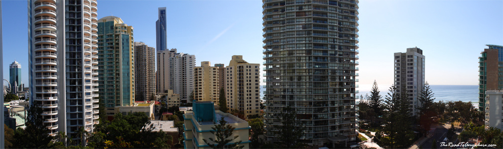 Panoramic view of Surfer's Paradise on the Gold Coast, Australia