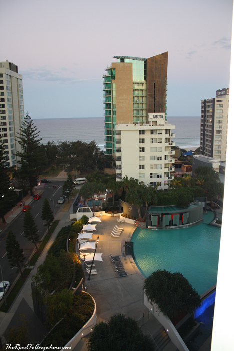 View of the pool from Q1 on the Gold Coast