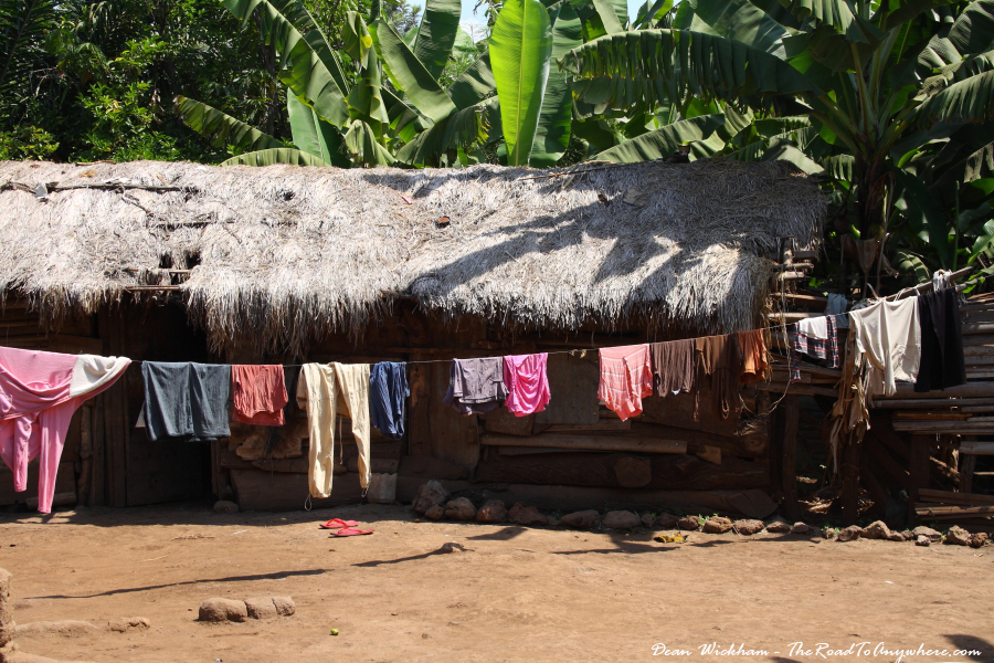 A house and clothes line in Mto wa Mbu, Tanzania