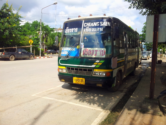Bus in Chiang Saen, Thailand