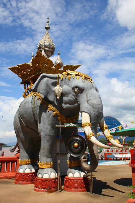 An elephant statue at the Golden Triangle in Thailand