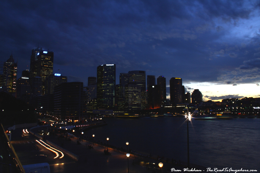 Sydney city skyline as dusk sets in, Sydney, Australia