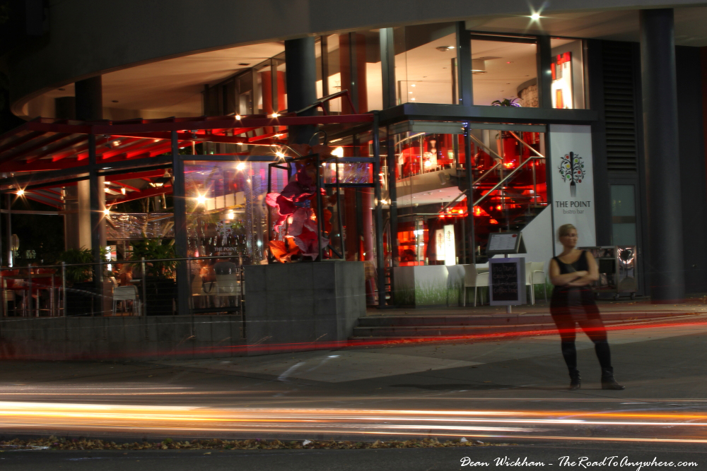 The Point Bistro Bar at night in South Bank, Brisbane, Australia