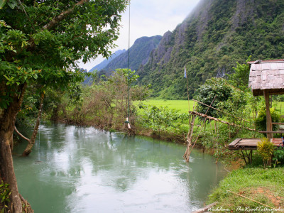 A swimming hole in vang vieng, Laos