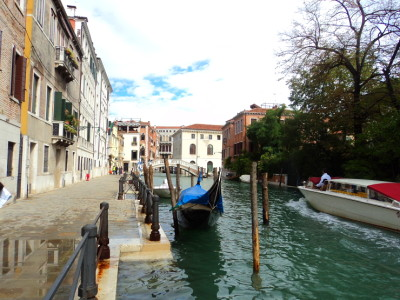 A canal in Castello in Venice, Italy