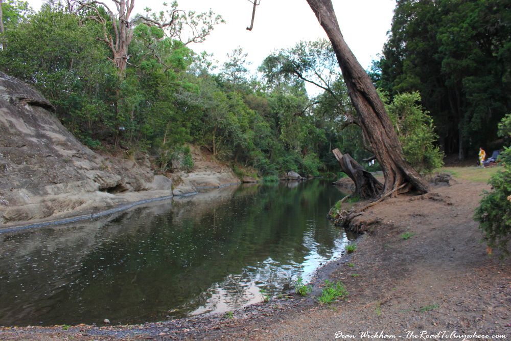 Swimming hole on Canungra Creek in Canungra, Australia