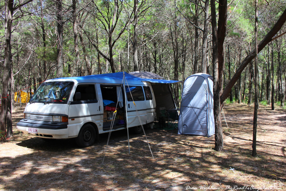 Camping at Rainbow Beach, Australia