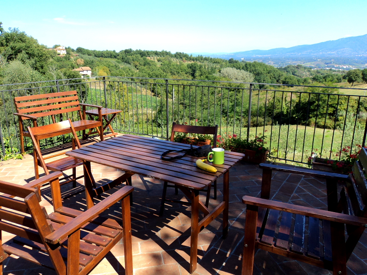 view from our villa in Tuscany, Italy