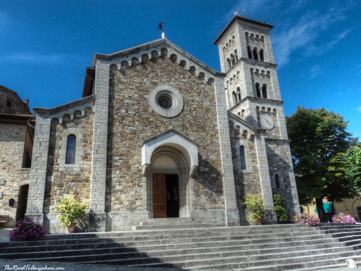 Church in Castellina in Chianti, Italy