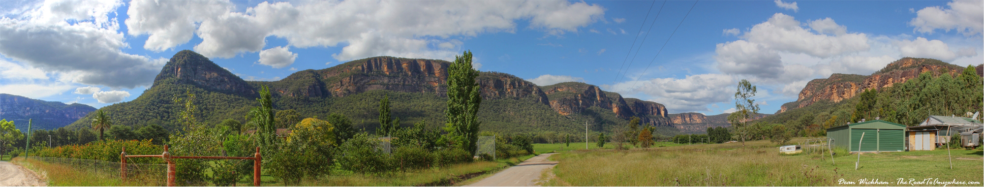 Panorama of the Sandstone Cliffs in Glen Davis, Australia