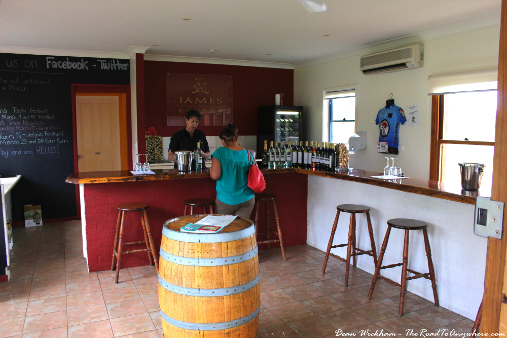 Wine tasting at James Estate Winery in the Hunter Valley, Australia