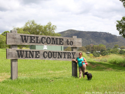 Welcome to Wine Country sign in the Hunter Valley, Australia