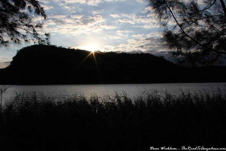 Sunset on the Hawkesbury River in Wisemans Ferry, Australia