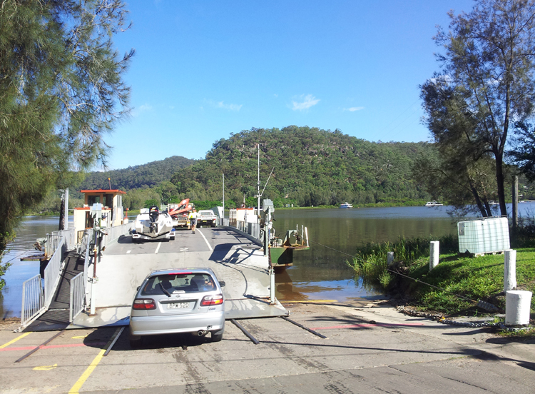 Wisemans Ferry in New South Wales, Australia
