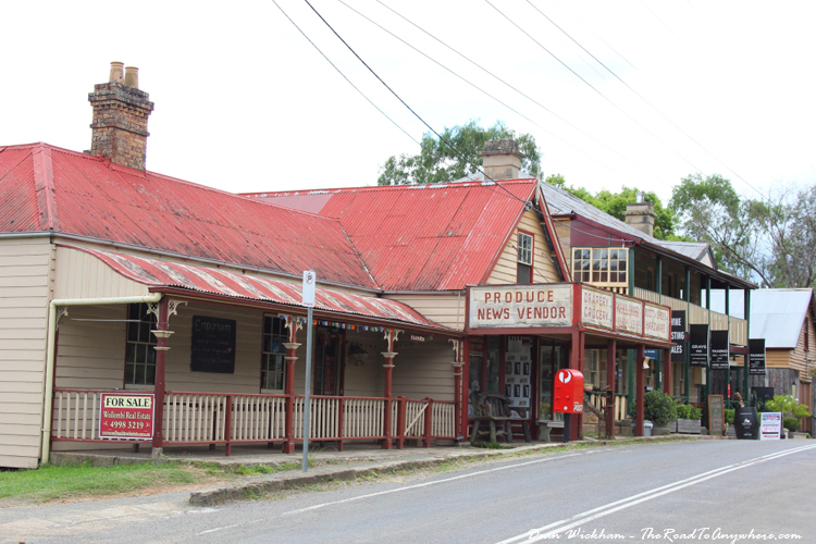 Main street in Wollombi, Australia