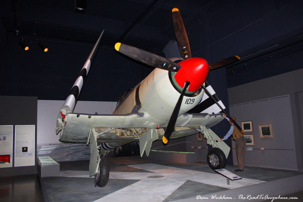 A Hawker Sea Fury plane at the Australian War Memorial, Canberra
