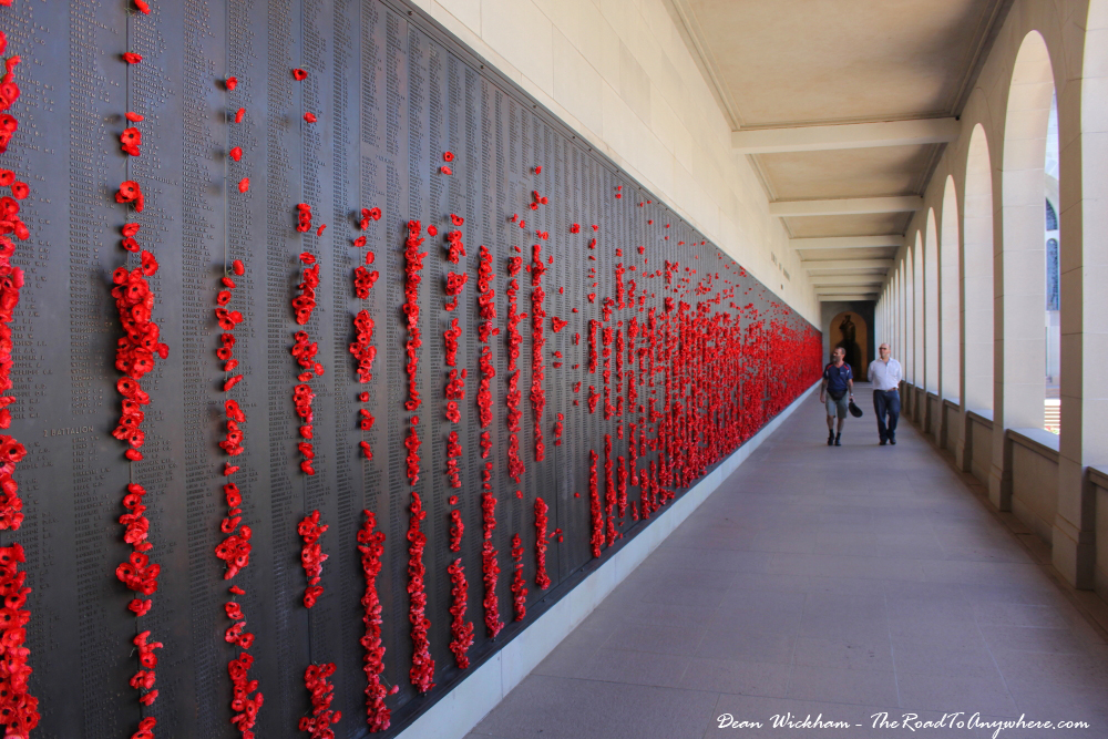 Names of the fallen in the Hall of Memory at the Australian War Memorial, Canberra