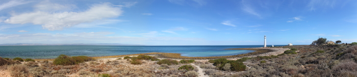 Panoramic view of Point Lowly Lighthouse from our camp site