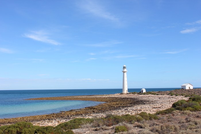 View of Point Lowly lighthouse from our camp site