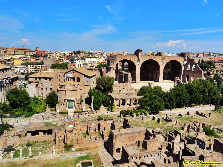 View from Palatine Hill in Rome, Italy