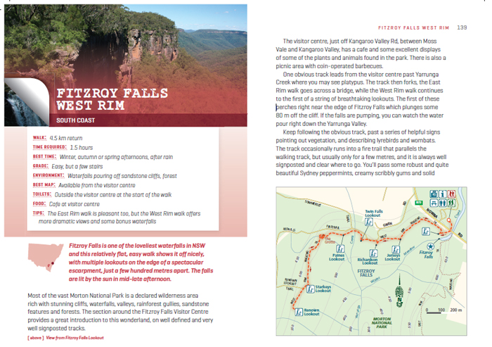 Sample page from Top Walks in New South Wales
