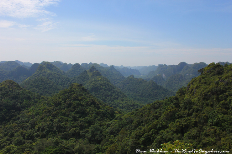 View of Cat Ba National Park in Vietnam
