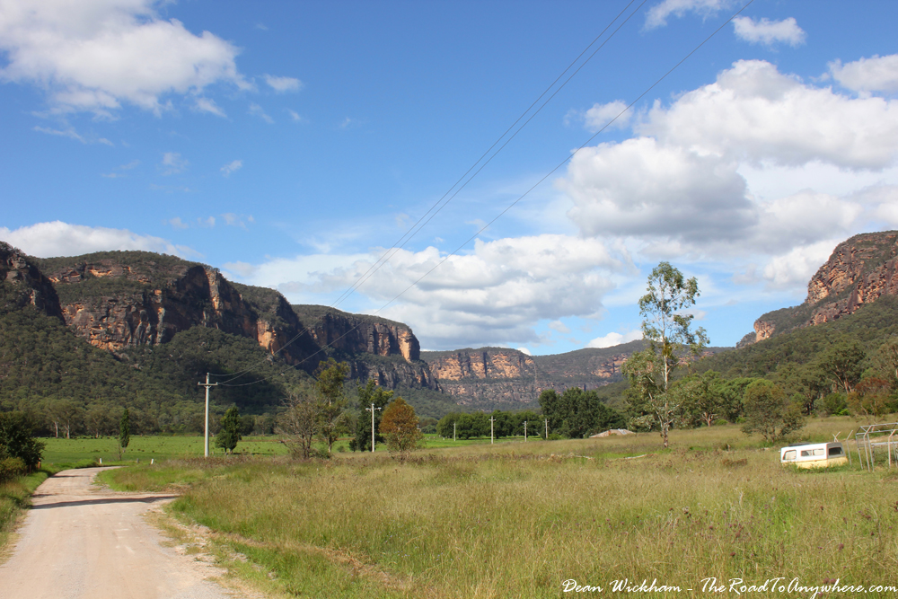 View of sandstone cliffs in Glen Davis, Australia