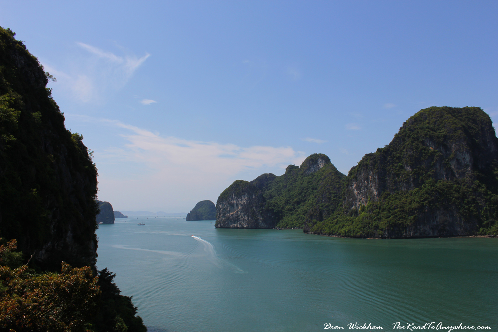 View of Halong Bay from an island