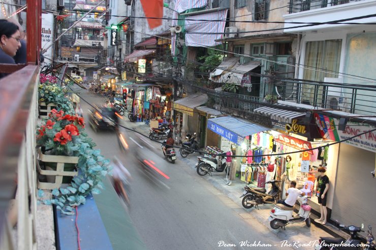 Street view from Quan Bia Minh in Hanoi, vietnam