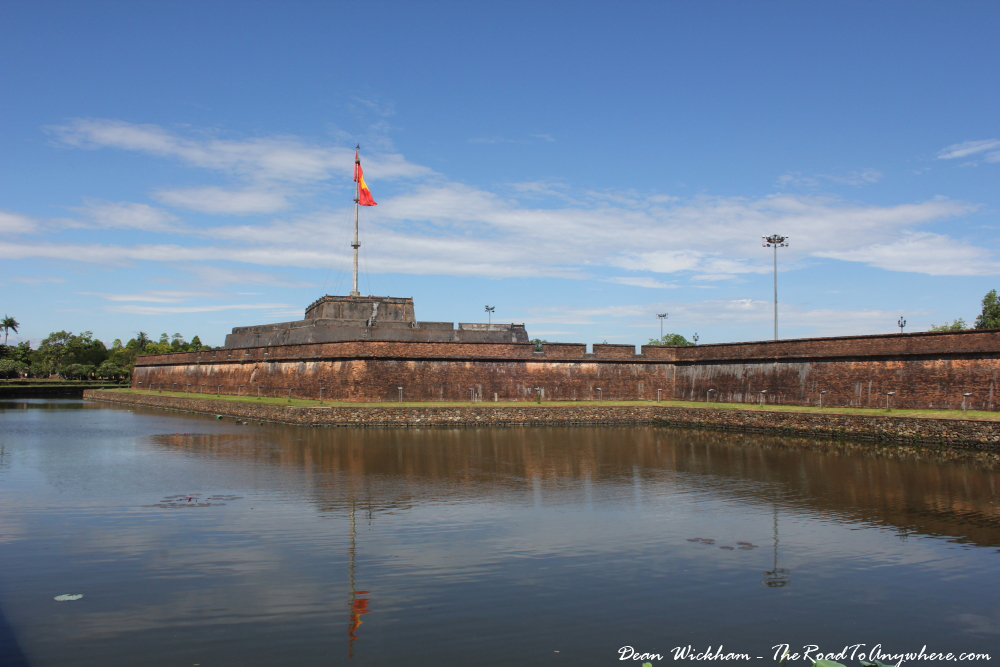 Wall of the Imperial Citadel in Hue, Vietnam