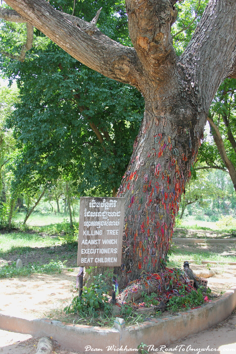 The Killing Tree at Choeung Ek Killing Fields in Phnom Penh, Cambodia
