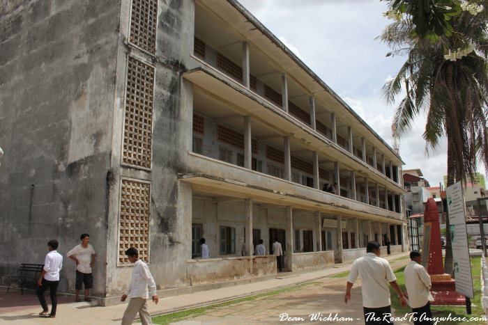 Torture building at Tuol Sleng Prison in Phnom Penh, Cambodia