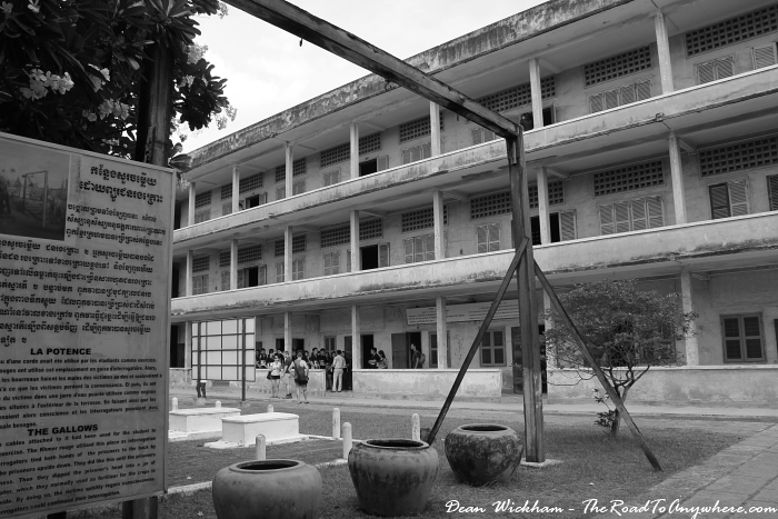 Torture device at Tuol Sleng Prison in Phnom Penh, Cambodia