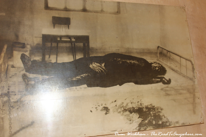 Photo of torture victim at Tuol Sleng Prison in Phnom Penh, Cambodia