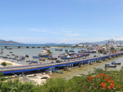 Panoramic view to the sea from Po Nagar in Nha Trang, Vietnam
