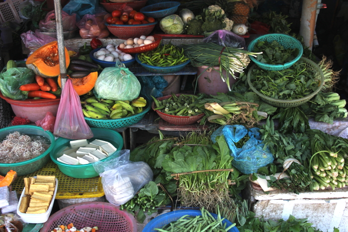 Fresh vegetables at the market in Hoi An, Vietnam