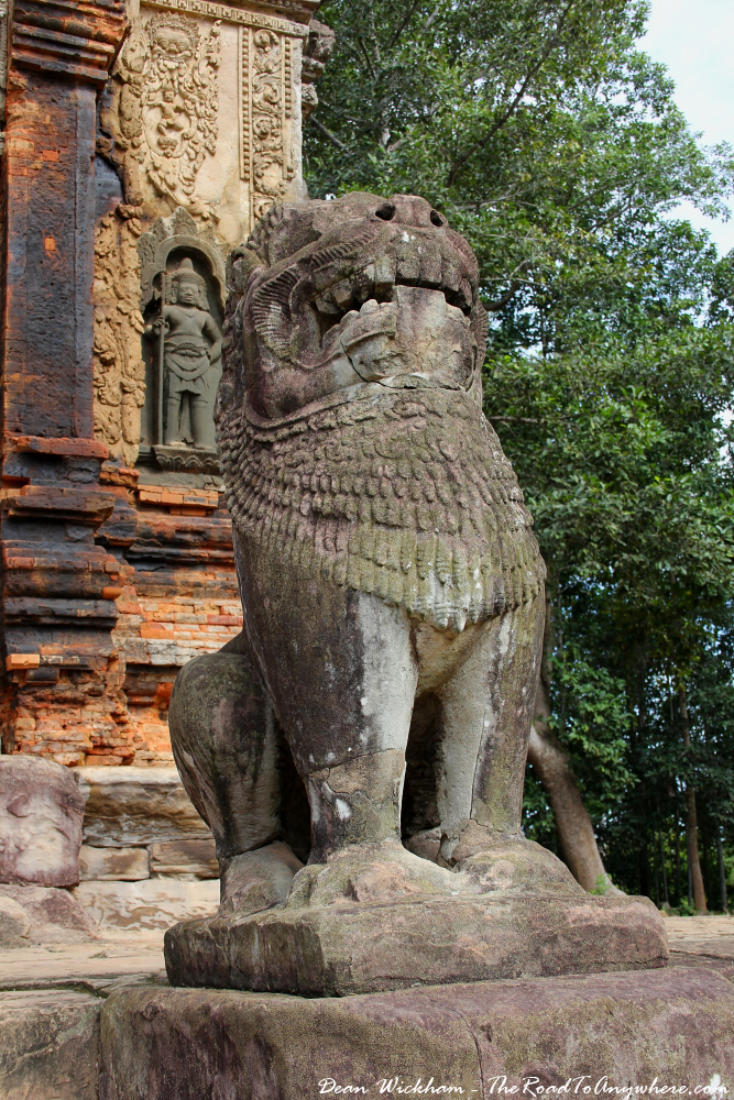 Statue at Preah Ko in Angkor, Cambodia