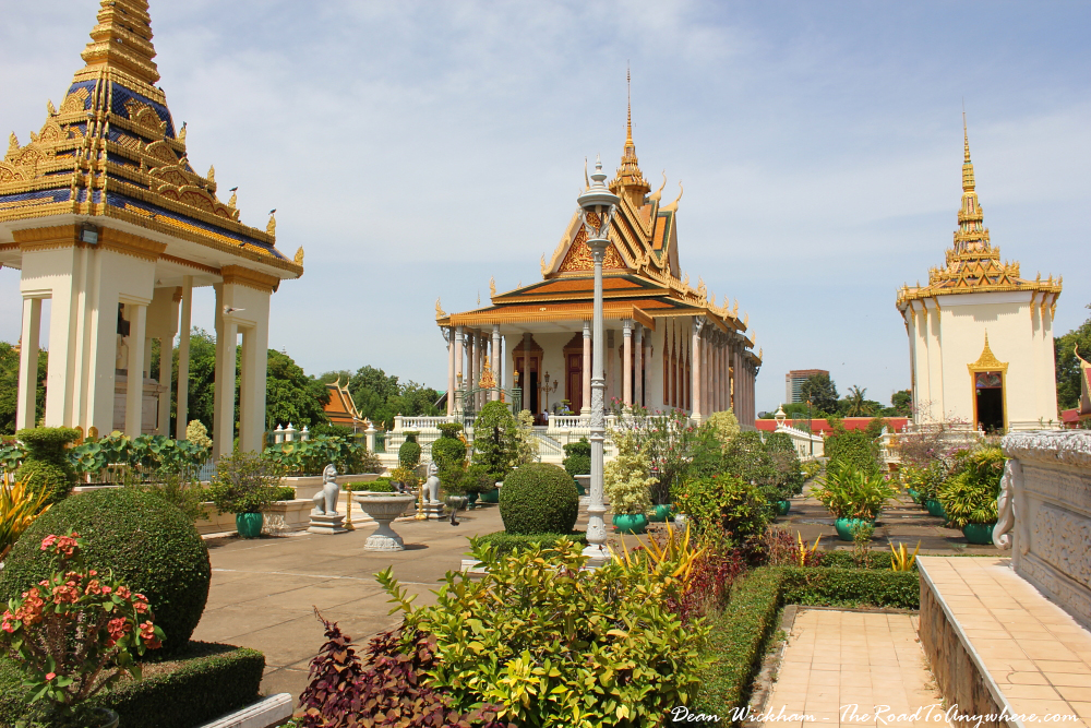 Silver Pagoda and gardens in the Royal Palace in Phnom Penh, Cambodia