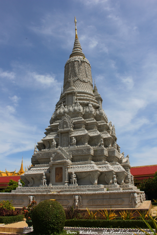 A royal stupa in the Royal Palace in Phnom Penh, Cambodia