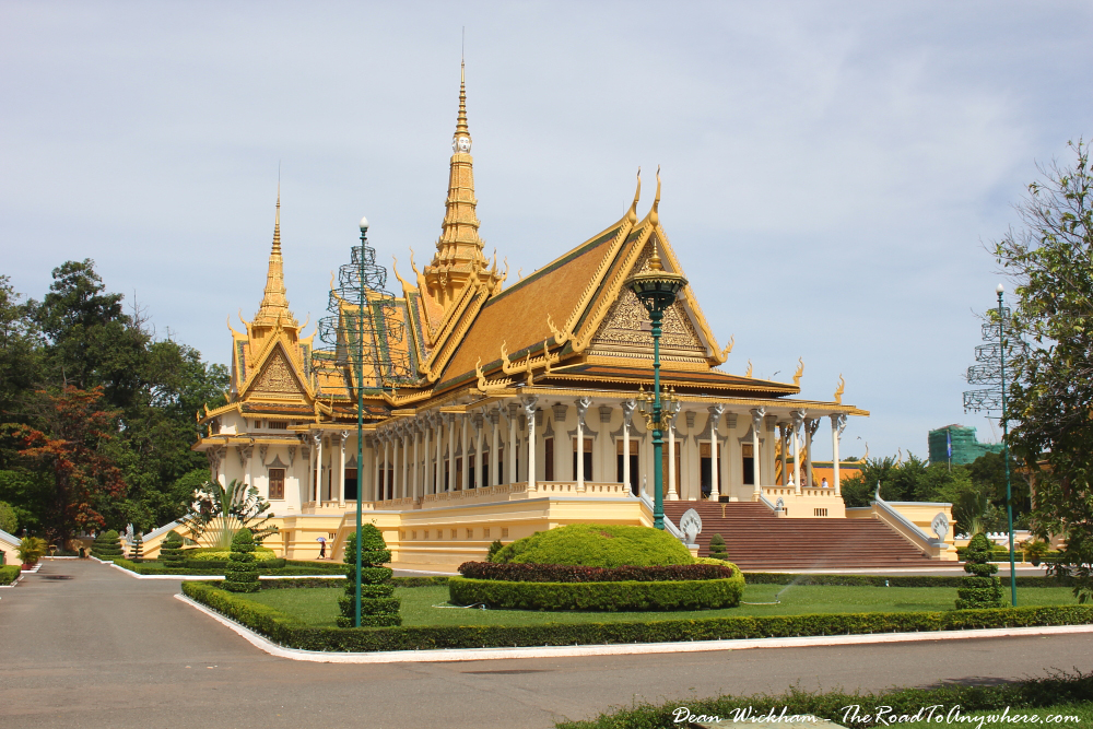 Throne hall in the Royal Palace in Phnom Penh, Cambodia