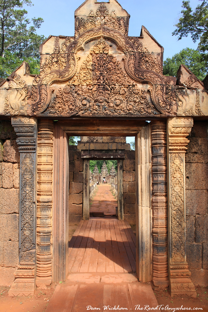 Entrance to Banteay Srei in Angkor, Cambodia